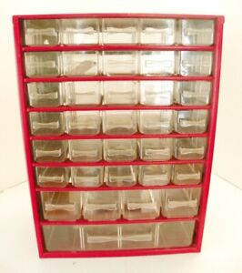 Vintage Raaco Metal 36 Drawer Nut bolt Small Parts Storage Cabinet Crafts
