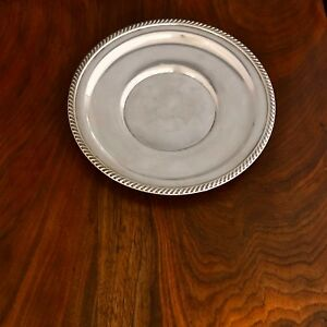 American Sterling Silver Hors D Oeuvres Plate Gadrooned Rim 9in No Mo