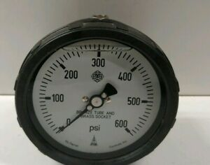 New Old Stock Mcdaniel 1 4 Npt 0 600 Psi Pressure Gauge Sg 0 600psi