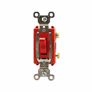 Pass Seymour Ps20ac4 red 4 way Heavy duty Toggle Switch 20a 120 277v Red