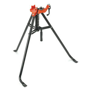 Ridgid 425 1 8 2 1 2 Portable Tristand Chain Vise Stand 16703 New