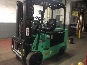 2013 6000 Lb Electric Forklift With Side Shift And Triple Mast