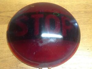 Lqqk Red Glass Stop Ls 321 Vintage Lamp Light Lens Early Auto Truck 6 7 8