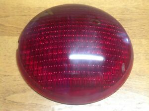 Lqqk Red Glass Do ray 374 Vintage Lamp Light Lens Early Auto Truck 6 7 8
