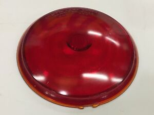 Nos Vintage Griffin Red Glass Stop Tail Light Lens Car Old Truck Bus Auto 6 7 8