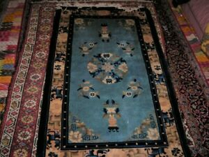 Vintage 1960 S Top Notch Chinese Art Deco Rug 3x5