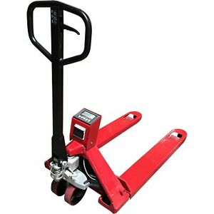 Optima Scale Pallet Jack Scale With Printer 5000lb Cap 1lb Display Increments
