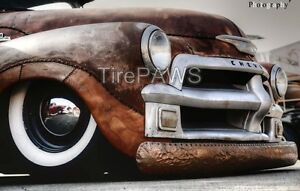15 X3 Inch Wide White Wall Gangster Style Insert Trim Set Of 4 Hot Rod