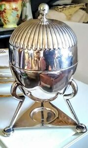 Antique Sheffield Silver Plate Egg Coddler William Hutton Sons C1891 Signed