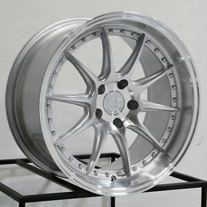 19x9 5 19x11 Aodhan Ds07 Ds7 5x120 22 15 Silver Machined Wheels Rims Set 4