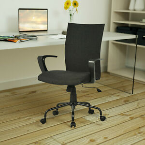 Ergonomic Computer Desk Chair Mid Back Swivel Home Office Task Chair black