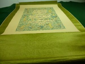 Vintage Silk And Rice Paper Scroll Medieval Wiccan Pagan Witch Devil Lucifer
