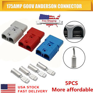 1 5pc 175amp 600v Plug Battery Terminal Power Connector Compatible With Anderson