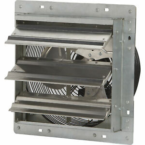 Strongway Enclosed 12in Direct Drive Shutter Exhaust Fan 3 spd 840 730 675cfm
