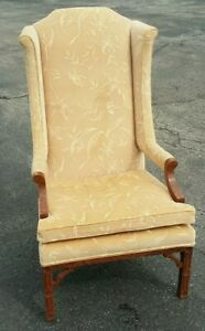 Nice Mid Century Modern Erwin Lambeth Wing Chair Chippendale