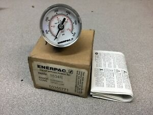 New Enerpac 1534r Hydraulic Pressure Gauge 1 5 Face Rear Mount 6 000 Max Psi