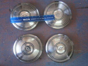 1935 36 Chevrolet Set 4 Hubcap Wheelcover Dogdish Poverty Cap