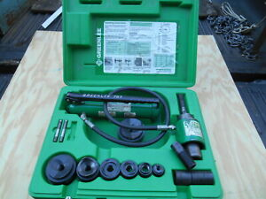 Greenlee 7306 Hydraulic Knock Out Punch Set 1 2 To 2 1 2 Conduit