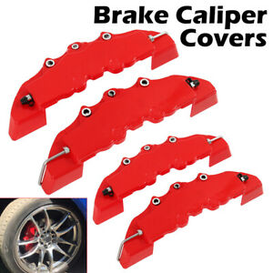 4pcs Abs Plastic Truck 3d Red Car Universal Disc Brake Caliper Covers Kit Set