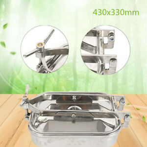 Stainless Ss304 Manhole Cover Tank Door Pharmaceutical dairy beer food beverage