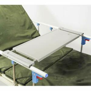Bed Rail Table Tray Overbed Elderly Dinner Tray Medical Non Tilt Top Home