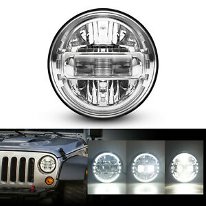 Dot Approved 7 Inch Round Led Headlight Halo Angel Eyes For Jeep Wrangler Motor