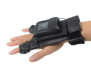 Bluetooth 1d Barcode Scanner Wearable With Leather Glove For Ios Android