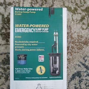 Star Emergency Sump Pump Back Up System Made In Usa lot 11987