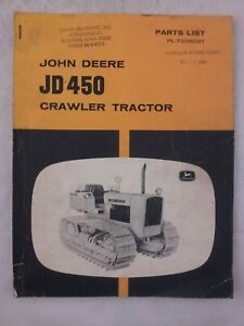 John Deere 450 Crawler Parts List Pl T2309t Manual Vintage Old Jd 60s 1966 Book