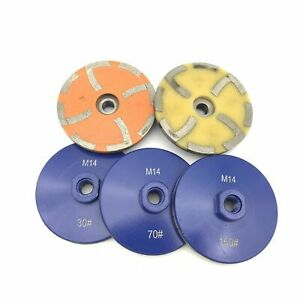 4 Resin Filled Diamond Grinding Disc Cup Wheel Stone Concrete Marble Granite