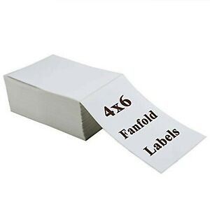 Ryhampaper 4 X 6 Direct Thermal Fanfold Labels White Shipping Mailing New