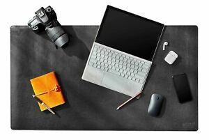 Delancey Stationery Leather Desk Pad Mat Protector Blotter Extended Keyb New