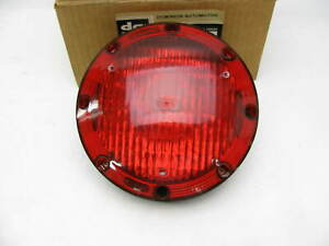 Vintage 7 Round Red Incandescent School Bus Turn Signal Light Bulb Lens