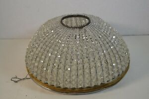 Vintage Czechoslovakian Beaded Glass Ceiling Shade