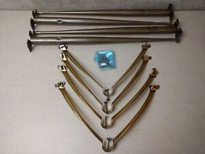 Vintage Mid Century Table Legs 1950 S 1960 S Set Of 4 Metal Tapered 28