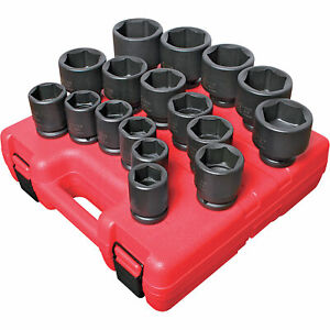 Sunex Tools Jumbo Impact Sockets 17 Pc Set 3 4in Drive Sae 4683