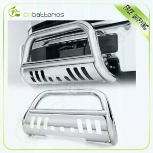 Front Bumper Chrome For 2006 2008 Dodge Ram 1500 Bull Bar Grill Guard Ss Round