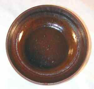 Vintage Glazed Redware Brown Colored Small Bowl Southeastern Pennsylvania