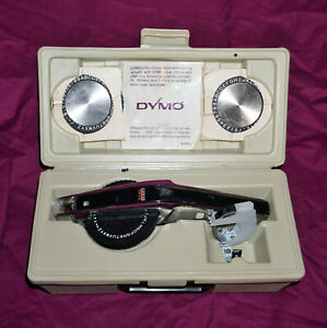Vintage Dymo Deluxe Tapewriter 1570 Plastic Tape Pressure Label Maker With Case