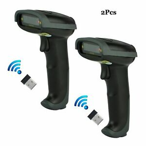 2pcs Wireless Portable Usb Wifi Laser Barcode Scanner Bar Code Reader For Pos