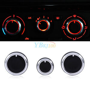 3pcs Air Condition A C Switch Buttons Control Knobs Cover For Vw Golf Mk4 Passat