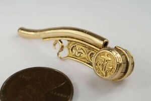 Unusual Antique English 9k Gold Boatswain S Call Bosun S Whistle Nautical Charm