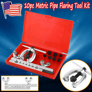 Usps 10pc Metric Double Pipe Flaring Tool Kit Mechanic Brake 5 6 8 10 12 14 16mm