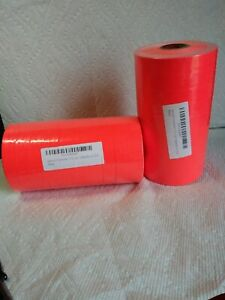 Fluorescent Red For Monarch 1115 Double Line Pricing Gun 2 Sleeves 20rolls A1