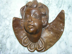 Vintage Hand Carved Wooden Figure Of An Angel