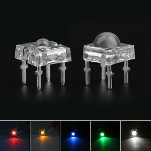 Led 3mm 5mm 4pin Piranha Super Flux Dome Wide Angle Super Bright Leds 5clours