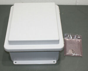 Hubbell Stahlin Electrical Enclosure Rj1210hpl 12 X 10 X 6 Hinged Non metal
