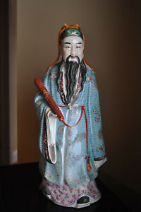 Chinese Antique Famille Rose Porcelain Figurine