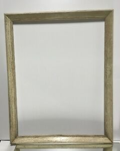 Vtg Arts And Crafts Mid Century Oak White Picture Frame Fits 22 X 88