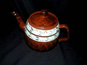 Antique English Porcelain Teapot Gold Decoration Made In England